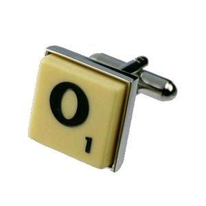 English Gems boutons de manchette Lettre O x2 avec étui Noir
