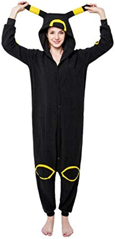 Kigurumi Winter Unisex Adult Long Sleeve Hooded Animal Onesie for Women Anime Black Elves Pajamas Sleepwear Home Pijama Onsie