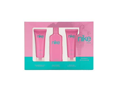 Nike - Sweet Blossom Estuche de Regalo para Mujer, Eau de Toilette 75 ml, Gel Baño 75ml y Body Lotion 75ml