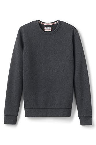 Lands' End Herren Sweatshirt mit rundem Ausschnitt 60 Schwarz - Anthrazit-Meliert