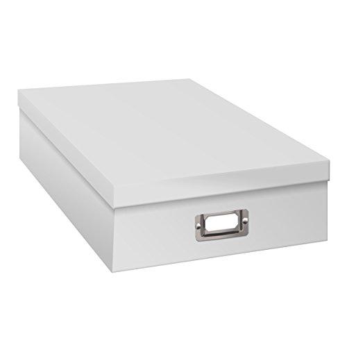 Pioneer Jumbo Scrapbook Storage Box, Crafters White, 14 3/4' X 13' X3 3/4'