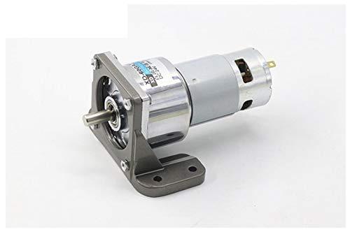 1pc 60GA775 12V / 24V DC Reductor de Moter 775 de alta potencia y par motor grande de velocidad de motor 35W 5/10/15/30/50/100/200/300/400 Rpm ( Color : 100rpm with bracket , tamaño : 12V DC )