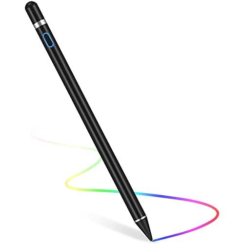 Rpanle Penna per Tablet, Lavora con Android 1.5mm Pennino di Rame USB Ricaricabile Penne per Cellulari, Compatibile con Huawei Samsung Lenovo Galaxy LG all Smartphones&Tablet (Nero)