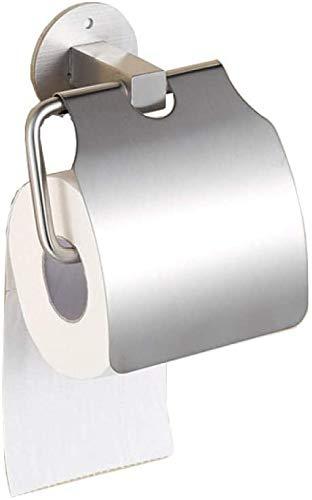 TAIDENG Dispensador de rollos de cocina, soporte de rollo de baño, sin perforaciones, acero inoxidable 304 fuerte adhesivo de papel toallero titular de papel higiénico accesorios de baño