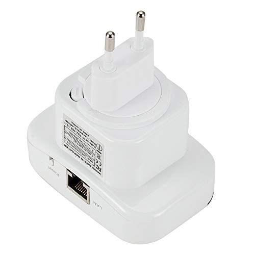 Missley WiFi Repetidores 300 Mbps Señal Aumentador de presión Casa Alto Velocidad Red Distancia Extensor Pequeña Inalámbrico Red Adaptador 2.4GHz (EU-Plug)