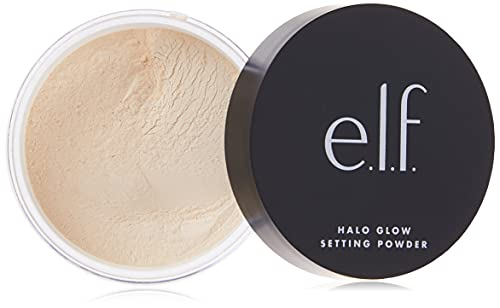 e.l.f., Halo Glow Setting Powder, Silky, Weightless, Blurring, Smooths, Minimizes Pores and Fine Lines, Creates Soft Focus Effect, Light, Semi-Matte Finish, 0.24 Oz
