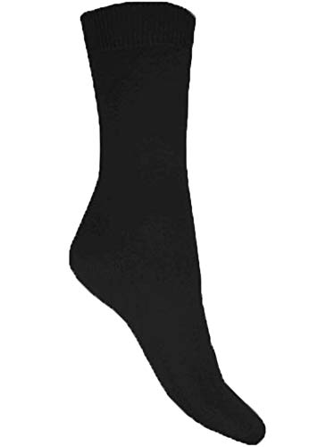 Aler Mens 6 Pack Cotton Lycra Socks 1030-3 Black 6-11