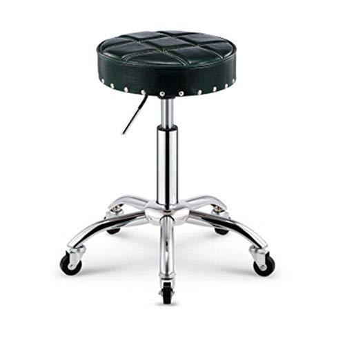 BAR STOOL NAN Liang Siège pivotant pour Chaise de Bureau pivotante à réglage de Hauteur hydraulique pour Chaise de Salon de Coiffure, Dossier de Bureau Avant (7 Couleurs) (Couleur : Vert foncé)