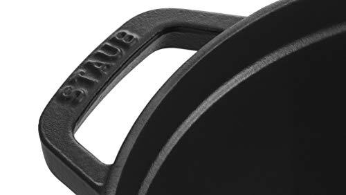 staubストウブ「ピコココットラウンドブラック24cm」大きい両手鋳物ホーロー鍋IH対応【日本正規販売品】LaCocotteRound40500-241