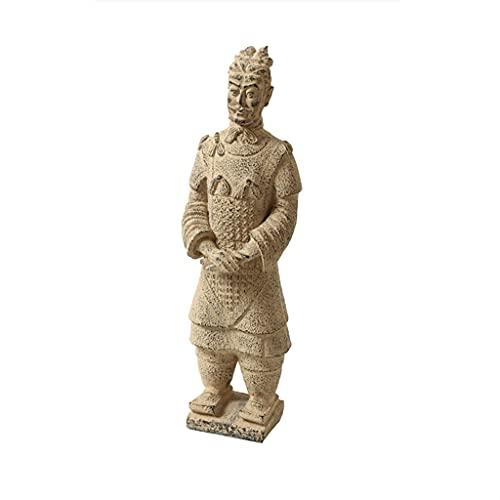 liushop Estatuas Nuevo China Terracotta Warriors Decoraciones de Escritorio Decoraciones destacadas Estudio de Sala de Estar Decoraciones de Escritorio Decoración del hogar