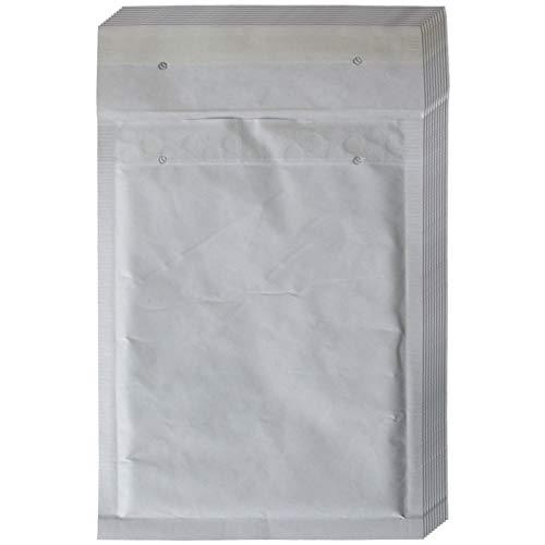 10 Stück Luftpolstertaschen, Luftpolsterumschläge - Größe: C/3, C3 - Farbe: Weiß - Innenmaß 150 x 215 mm - Außenmaß 170 x 225 mm - haftklebend - Versandtaschen, Luftpolsterversandtaschen