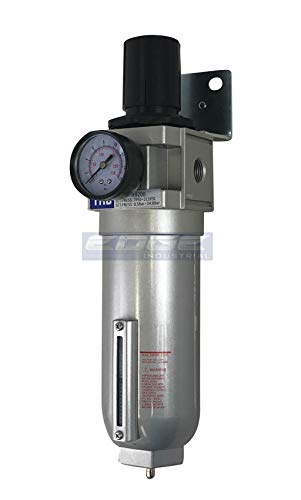 3/4' NPT HIGH FLOW AIR PRESSURE REGULATOR & PARTICULATE FILTER WATER TRAP COMBO FOR COMPRESSED AIR COMPRESSORS