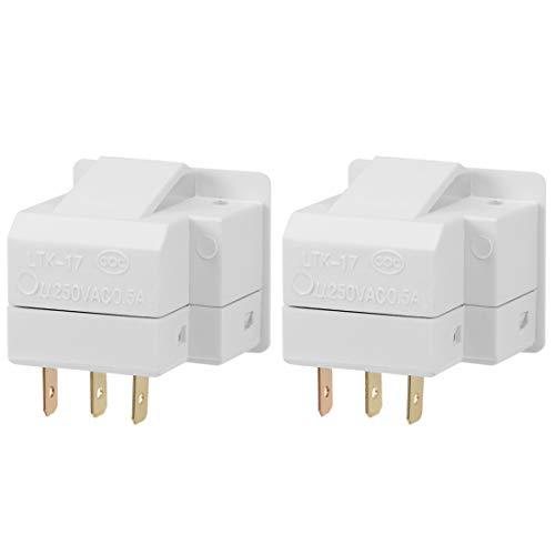 uxcell Refrigerator Door Light Switch LTK-17 Momentary Fridge Switch 1NO+1NC AC 250V 0.5A 2pcs