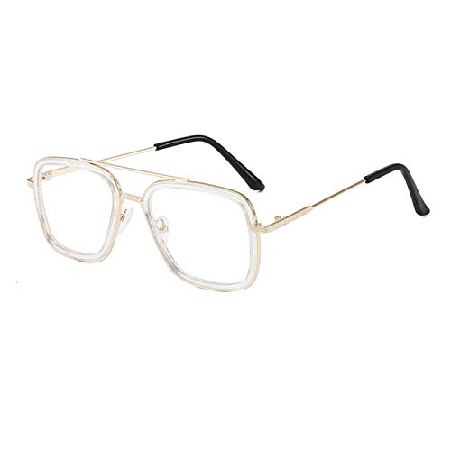 QQGGTongFeng Clásico Hombre Hombre Tony Stark Pesca Gafas de Sol Plaza Pesca Al Aire Libre Pesca Gafas Hombres Araña Eyewear Deportes Gafas de Sol para Exterior (Color : H)