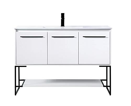 Cheap Elegant Decor 48 inch Single Bathroom Vanity in White