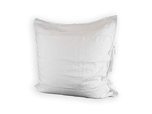 beties Bettbezüge und Kissenbezüge aus 100% Leinen in 2 Uni Farben (ca. 80x80 cm, weiß)