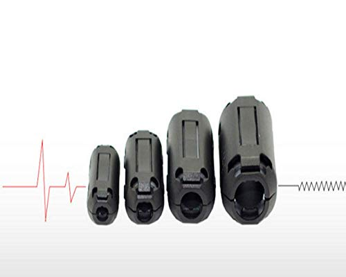 20 Pieces Clip-on Ferrite Ring Core RFI EMI Noise Suppressor Cable Clip for 3mm/ 5mm/ 7mm/ 9mm/ 13mm Diameter Cable (Black)-Love shops