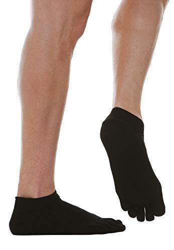 Relaxsan 650CS (Schwarz, Gr.5) Sneakersocken mit Zehen Diabetes mit X-Static Silberfasern