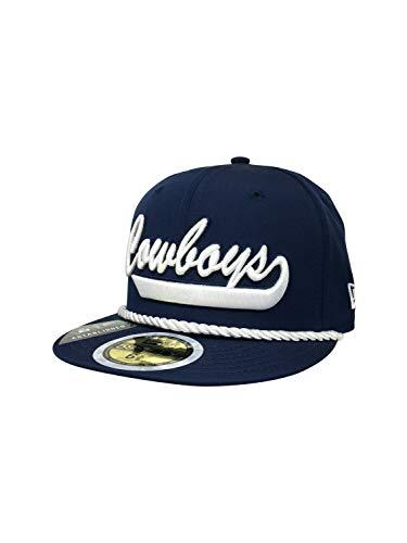 New Era Dallas Cowboys 59Fifty Fitted Hat NFL Football Flat Bill Baseball Cap (6 3/8, Navy Prolight of)