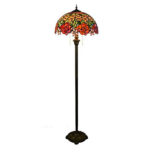SXFYWYM Tiffany stijl staande lamp glas ritssluiting standaard lampen voor woonkamer badkamer slaapkamer verlichting