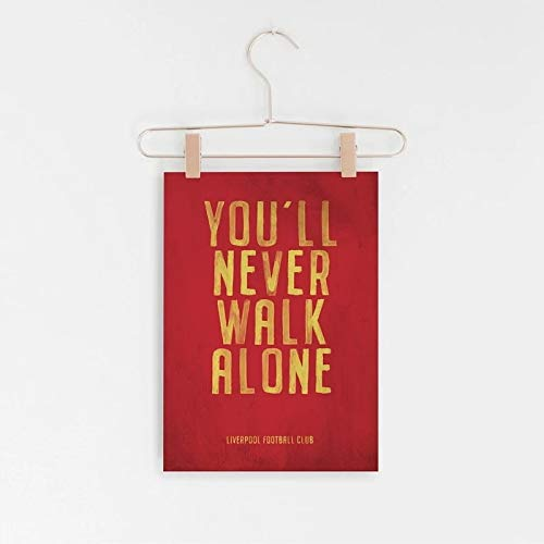 Liverpool FC Lema Vintage Poster Prints, You Never Walk Alone Canvas Art Painting Picture Home Room...