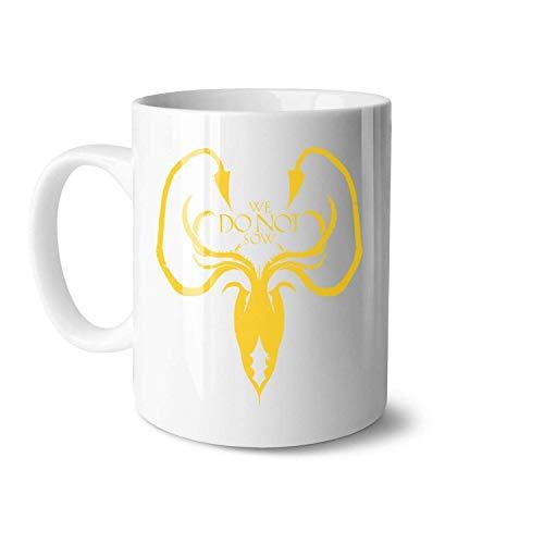 N\A AME of Thrones Weiße Keramik-Kaffeetassen, geeignet für Eltern-Kind-Druckbecher in großer Größe