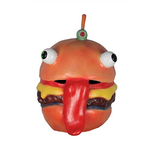 JGBHPNYX Burger Masker Rundvlees Winkel Eigenaar Hoofd Latex Volledige Gezicht Helm Halloween Party Props Masker