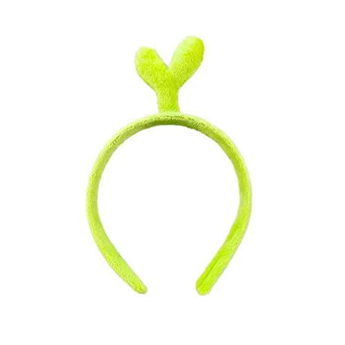 niumanery Adult Kids Cute 3D Cartoon Headband Green Bean Sprouts Velvet Makeup Hair Hoop