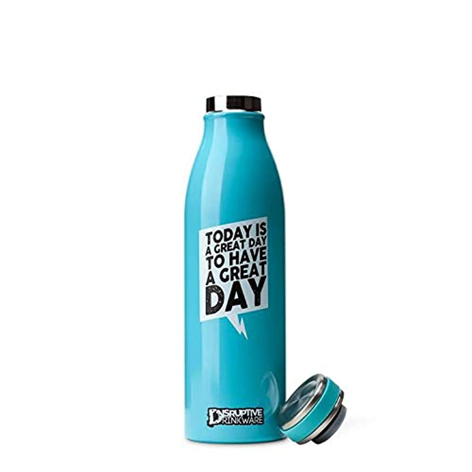 DISRUPTIVE DRINKWARE Water Bottle Stainless Steel BPA Free - Great Day
