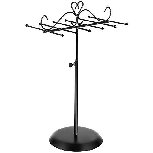 SONGMICS Schmuckständerhalter Schmuckhalter aus Metall, für Halsketten, Armbänder und Ohrringe, als Geschenk, schwarz JJS04BK
