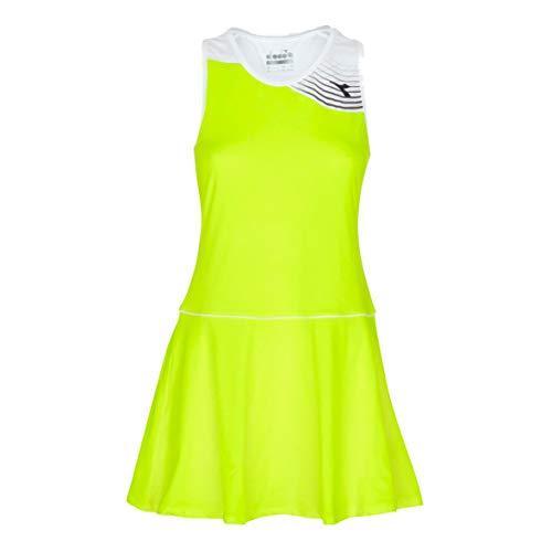 Diadora dames, court jurk geel, wit, S bovenkleding, S