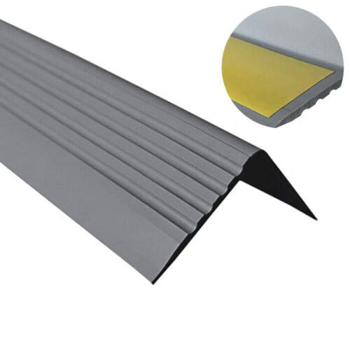 Antideslizante 100cm 55x69mm bronce claro Perfil de pelda/ño de escalera perfil de pelda/ño de aluminio F/ácil instalaci/ón Robusto acerto 51039 Perfil angular de escalera de aluminio