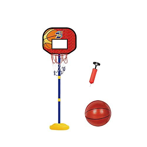 HONANA Aro de baloncesto y soporte, para niños de 2 a 6 años, juego de baloncesto con red y bola para interiores y exteriores, juego deportivo ajustable
