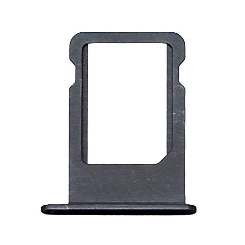 jbTec SD-Card/SIM-Tray/Halter passend für Apple iPhone 5/5s/SE - Slot Karte Schlitten Rahmen Holder Handy Card Ersatz, Farbe:Schwarz