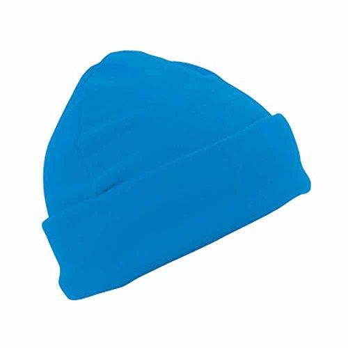 MYRTLE BEACH - bonnet polaire style marin large revers - MB7720 - coloris bleu aqua - mixte homme/femme