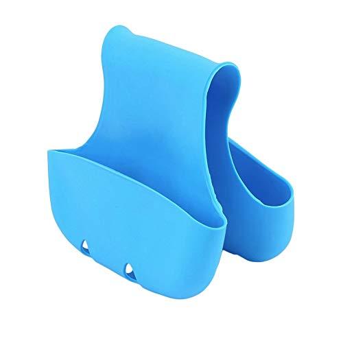 Lynn025Keats Doppelspüle Caddy Sattel Küchen-Sattel Aufbewahrungsbox Schwamm Halterung Werkzeug Rack, blau