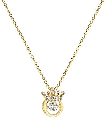 Collar-ins de la época alrededor de la Corona del corazón del encanto titanio de acero de cadena de las mujeres de temperamento de moda de la cadena de clavícula
