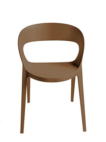 Blanke Design Carla Silla, Chocolate, 58 x 58 x 80 cm, 2 Unidades