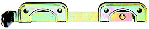 GAH-Alberts 209803 Doppeltorüberwurf, speziell für schmale Rahmenhölzer, galvanisch gelb verzinkt, 335 x 52 mm