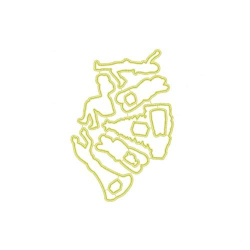 Stad Meisjes Postzegels en Sterven Boom Metaal Sterft Duidelijke Postzegels voor Scrapbooking Sneeuw Dagen Kaart Maken Stempel en Die Sets, Dies, China