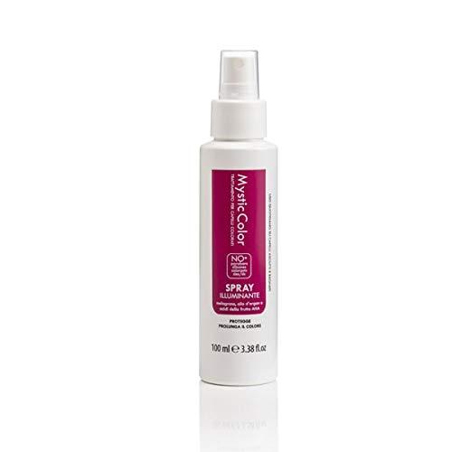 Mystic Haircare - Spray Restructurant pour Cheveux Colorés et Décolorés, Sérum Capillaire, Action Eclaircissante à l'Huile d'Argan et à l'Aloe Vera - Format 100 ml