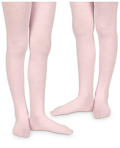 Jefferies Socks Girls Pima Cotton Dress School Tights 2 Pack (Pink, 6-18 Months)