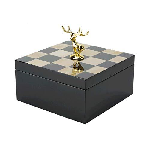 WYJW juwelendoos Beef Bone Jewellery Box Europese creatieve slaapkamer nachtkastje Piano verf Opbergdoos Display Sieraden Doos (Maat: Xl)
