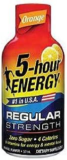 5-Hour Energy Regular Strength Energy Shot Orange Flavour (For Energy & Mental Focus) 57Ml