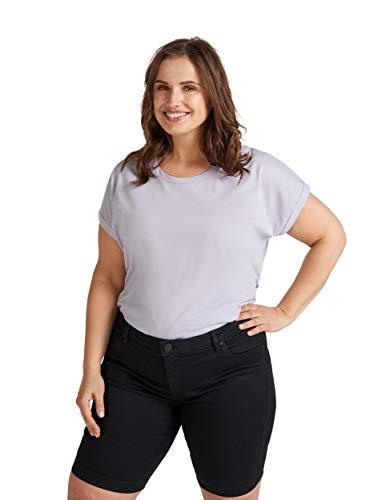 Zizzi Damen Shorts Große Größen Kurze Hose Regular Fit Casual Sommerhose , Farbe: Schwarz, Gr. 48