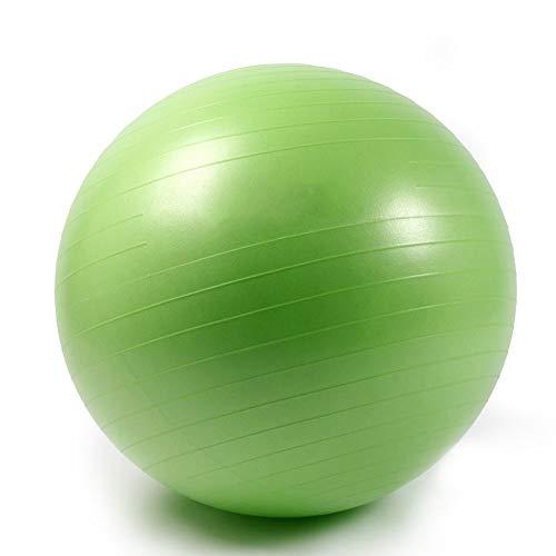 AIYKXY Umweltschutz Aufgeblasen Kleiner Gymnastikball Verdicken Explosionsgeschützt Balance Fitnessbälle Bauchmuskeltraining Nackenmassage Mini Pilates-Green,45cm