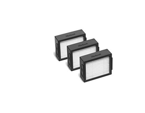 irobot 4624876, Lot de 3 filtres pour aspirateur Robot Roomba séries i et e, Noir et Blanc