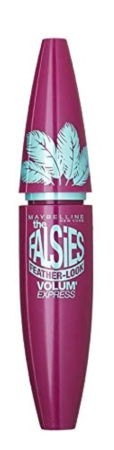 玉葬儀迫害するMaybelline The Falsies Volum' Express Mascara Feather Look - Black
