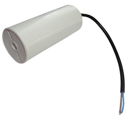 AERZETIX: Condensatore permanente di lavoro per motore 60µF 450V con cavo 25cm Ø50x119mm ±10% 10000h C18727