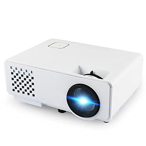 CGSJG Mini proyector 2800 lúmenes for Full HD 1080p,Pantalla de sincronización inalámbrica for teléfono,LED Portátil de Cine en casa